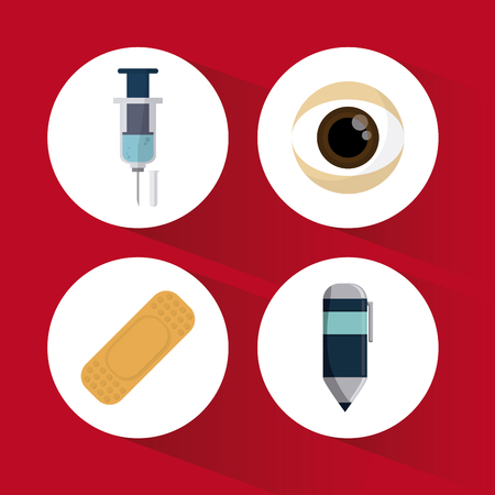eye bandage: Medical concept about helthy icons design, vector illustration 10 eps graphic.