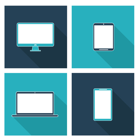 Electronics concept and technology icons design, vector illustration 10 eps graphic.