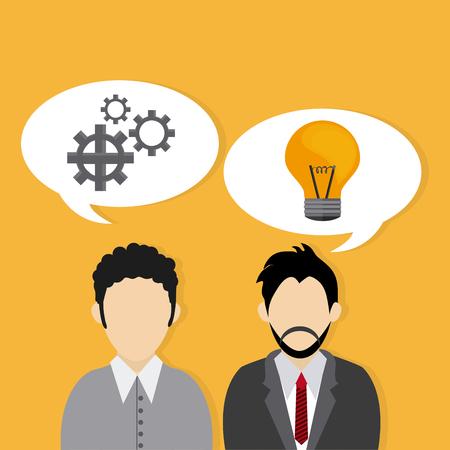 gente exitosa: Entrepreneur concept about business icons design, vector illustration 10 eps graphic., Vector design