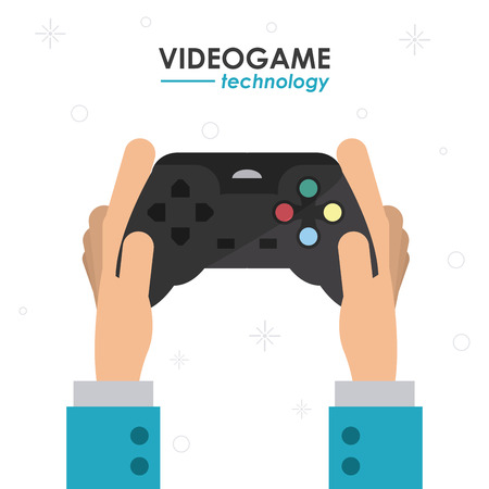 playing video game: Video game  concept and multimedia icons design, vector illustration 10 eps graphic.