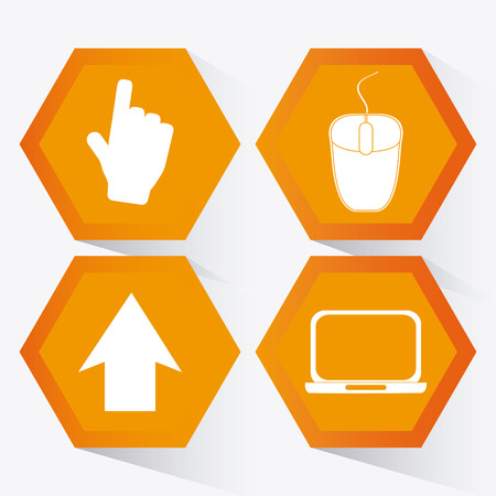 social web: Networking concept and technology icons design, vector illustration 10 eps graphic. Illustration
