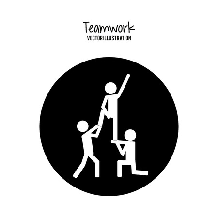 teamwork concept: Teamwork concept and business icons design, vector illustration 10 eps graphic. Illustration