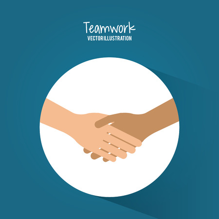 connect: Teamwork concept and business icons design