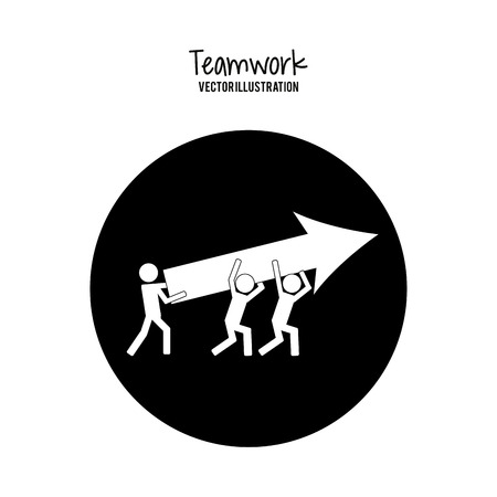 teamwork concept: Teamwork concept and business icons design