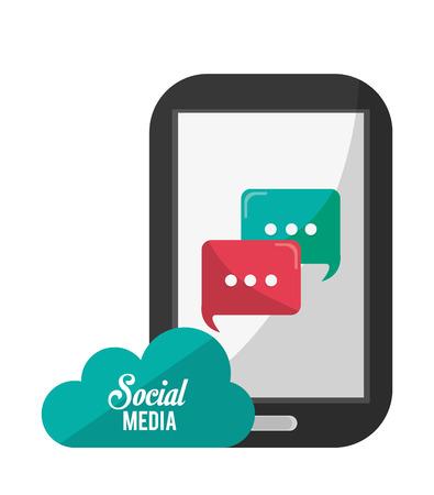 social media concept: Social Media concept with technology design, vector illustration 10 eps graphic. Illustration