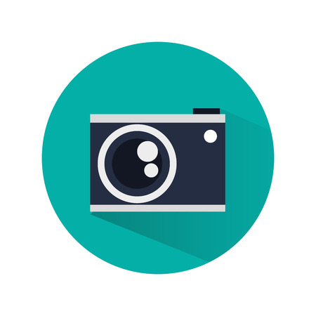 digicam: Camera concept with technology design, vector illustration 10 eps graphic. Illustration
