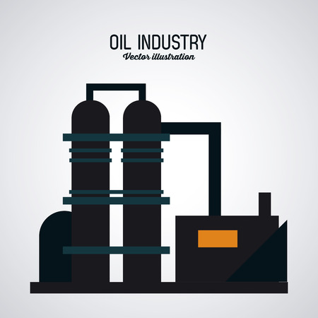 petrochemical: Oil concept with industry icons design, vector illustration 10 eps graphic.