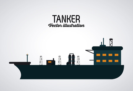 petrochemical plant: Oil concept with industry icons design, vector illustration 10 eps graphic.