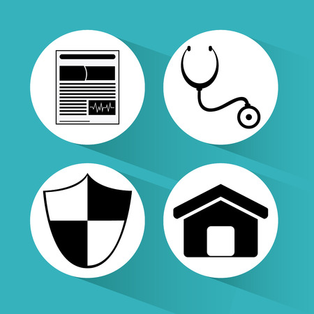 home value: Insurance concept with icons design, vector illustration 10 eps graphic. Illustration