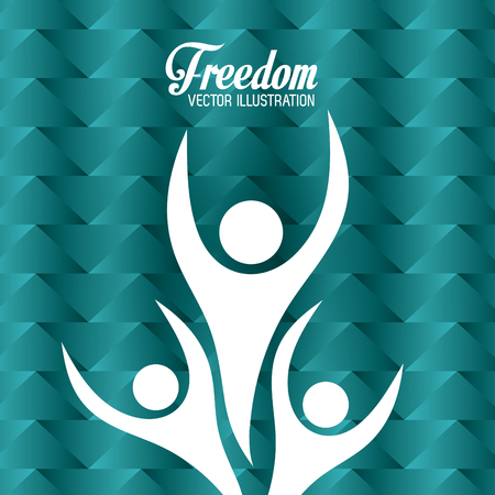 freedom concept: Freedom concept with icons  design, vector illustration 10 eps graphic. Illustration
