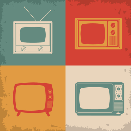 screen tv: Retro and old Television concept design, vector illustration 10 eps graphic. Illustration
