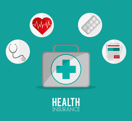 value system: Insurance concept with icons design, vector illustration 10 eps graphic. Illustration
