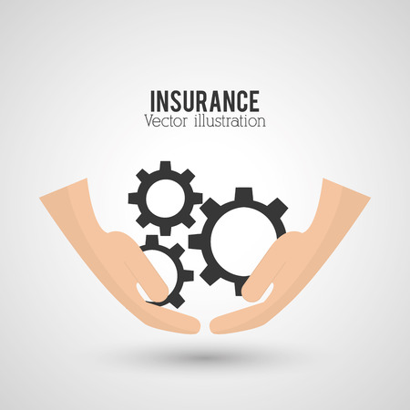 risky: Insurance concept with icons design, vector illustration 10 eps graphic. Illustration