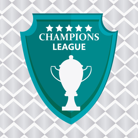 league: Champions  league concept with fitness icons design, vector illustration 10 eps graphic.