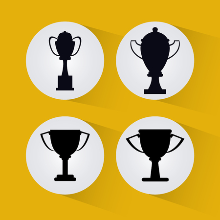 competitors: Champions  league concept with fitness icons design, vector illustration 10 eps graphic.