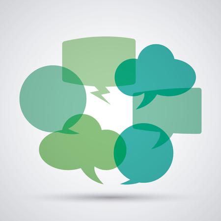 conversations: Conversation concept with bubble icons design, vector illustration 10 eps graphic.