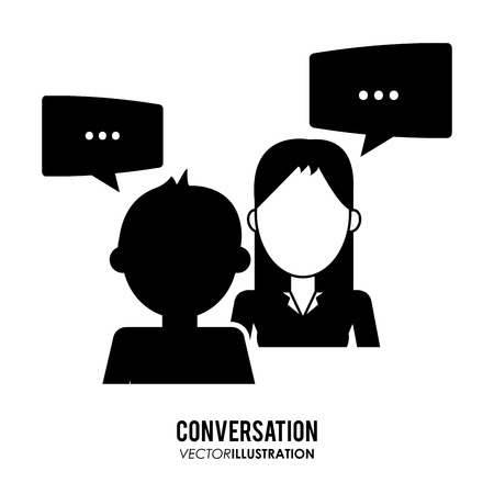 Conversation concept with bubble icons design, vector illustration 10 eps graphic.