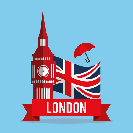 London concept with landmarks icons design, vector illustration 10 eps graphic. Illustration