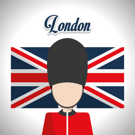 british army: London concept with landmarks icons design, vector illustration 10 eps graphic. Illustration