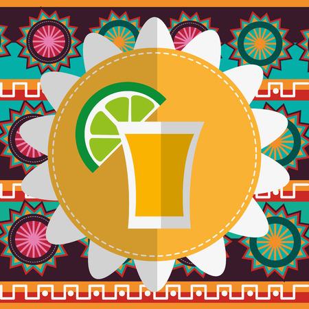 hispanics: Mexico concept with landmarks icons design, vector illustration 10 eps graphic.