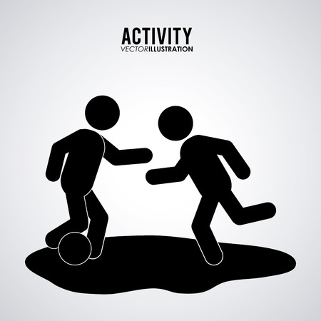 adrenalin: Activity concept with pictogram design, vector illustration 10 eps graphic. Illustration