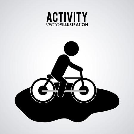flexibility: Activity concept with pictogram design, vector illustration 10 eps graphic. Illustration