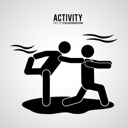brave of sport: Activity concept with pictogram design, vector illustration 10 eps graphic. Illustration