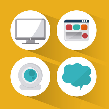 web icons: Social network concept with media icons design, vector illustration 10 eps graphic.
