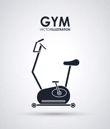 spinning: Gym concept with fitness icons design, vector illustration 10 eps graphic. Illustration