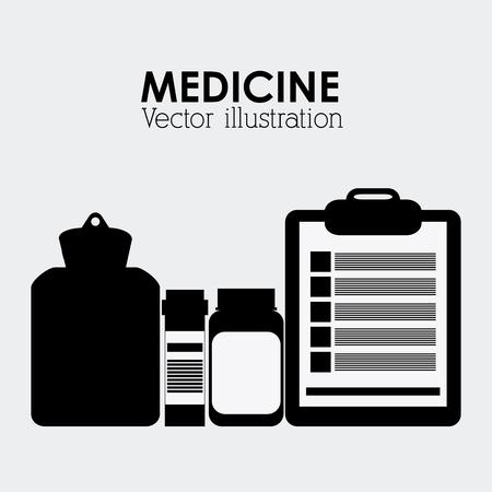 clinic history: el concepto del cuidado m�dico con el dise�o de iconos de la medicina, la ilustraci�n vectorial 10 EPS gr�fico. Vectores