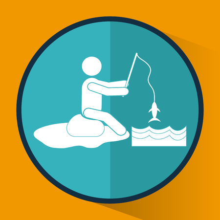 lake shore: Activity concept with pictogram icons design, vector illustration 10 eps graphic.