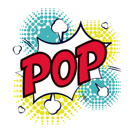 pop background: Communication concept with pop art icons design