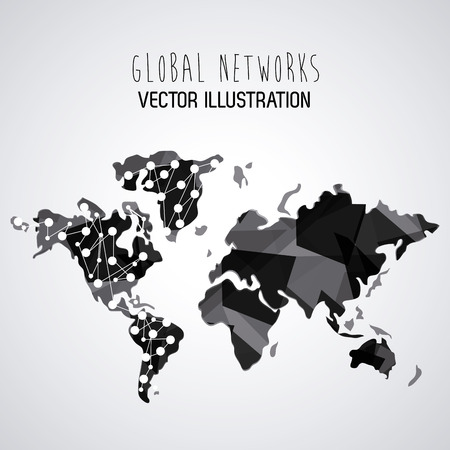 global communication: Global  communication concept with  planet design Illustration