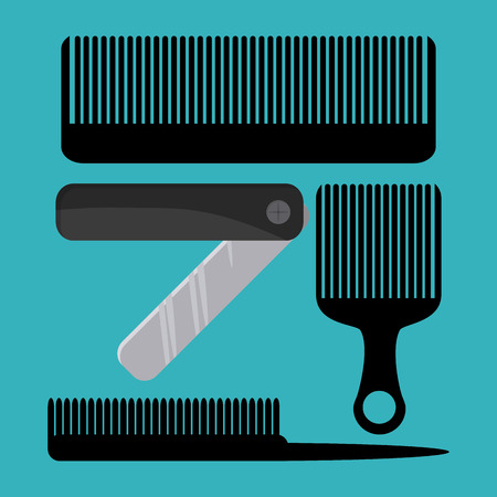 haircare: Hairdresser concept with salon  icons design