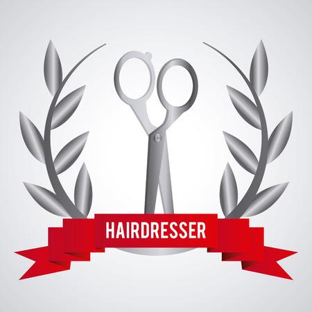 hairstylist: Hairdresser concept with salon  icons design
