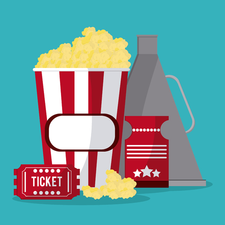 cinema viewing: Cinema  concept with movie icons design