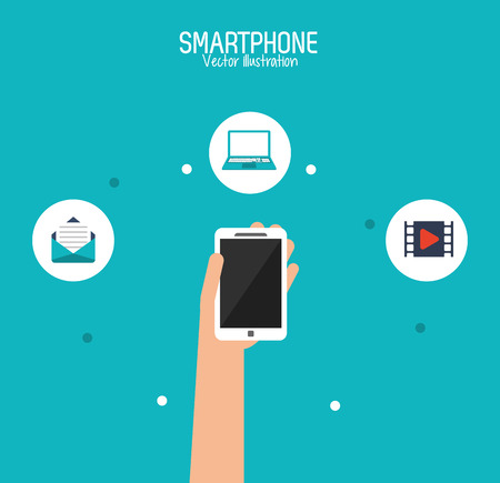 smartphone icon: Smartphone concept with communication icon design