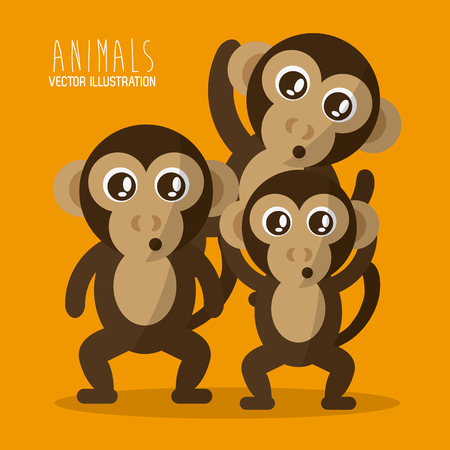 'wildlife reserve': Animal concept with cartoon icons design, vector illustration 10 eps graphic.