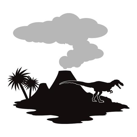 Concepto prehistórica con los dinosaurios diseño, ilustración vectorial eps 10 gráfico. Foto de archivo - 51027092