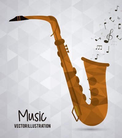 listening to music: Low Poly concept with music icon design, vector illustration 10 eps graphic.