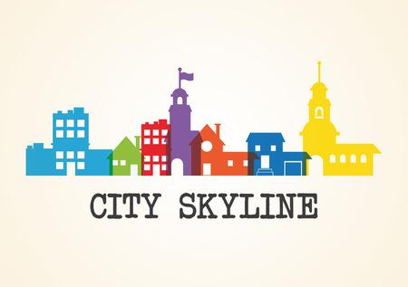 urban scene: City Skyline concept with urban icon design, vector illustration 10 eps graphic.