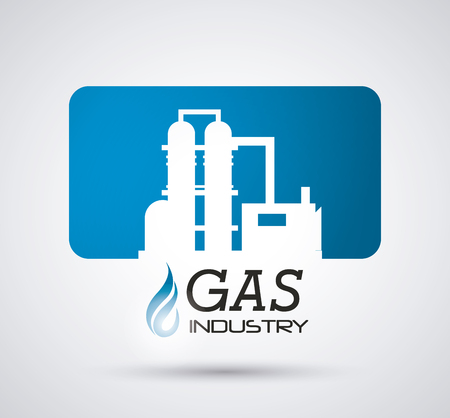 butane: Natural gas concept with industry icons design, vector illustration 10 eps graphic.