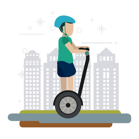 Segway  concept with icon design, vector illustration 10 eps graphic.
