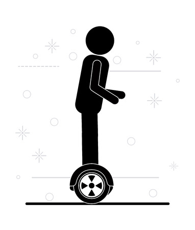 segway: Segway  concept with icon design, vector illustration 10 eps graphic.