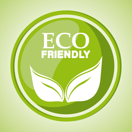 Eco friendly concept with green icon design, vector illustration 10 eps graphic. Vector Illustration