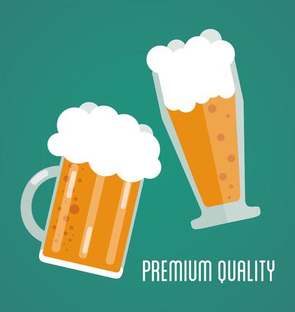 Bier concept met iconen ontwerp, vector illustratie 10 eps grafische. Stock Illustratie