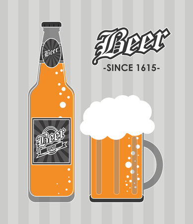 brewed: Beer concept with icons design, vector illustration 10 eps graphic.