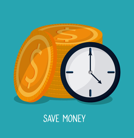 Save money design  with financial icon design, vector illustration 10 eps graphic.