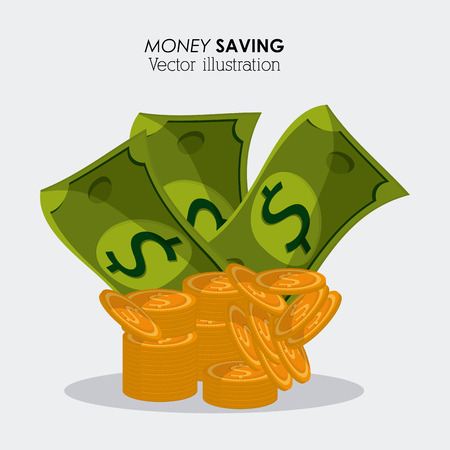 save money: Save money concept with financial icon design, vector illustration 10 eps graphic.