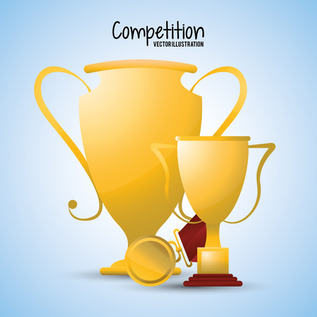 competitors: Competition concept with winner icon design, vector illustration 10 eps graphic. Illustration